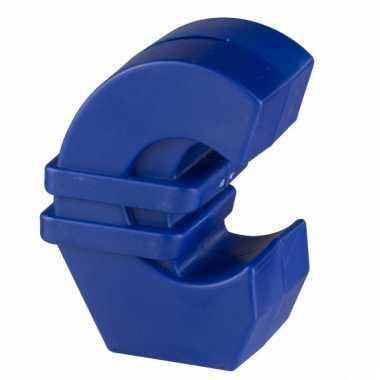 Blauwe euroteken spaarpot 11 cm bestellen