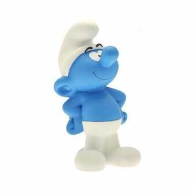 Blauwe smurfen spaarpot 22 cm bestellen