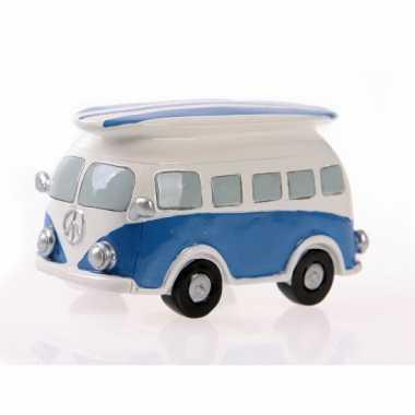 Blauwe Volkswagen T1 bus Spaarpot bestellen