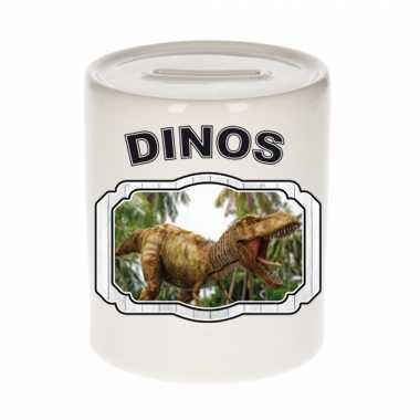 Dieren brullende t rex dinosaurus spaarpot dinosaurs dinosaurussen spaarpotten kinderen 9 cm