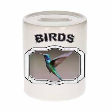 Dieren kolibrie vogel vliegend spaarpot birds vogels spaarpotten kinderen 9 cm