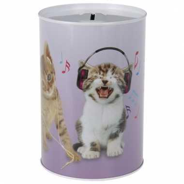 Dieren spaarpot katten/poezen 15 cm bestellen