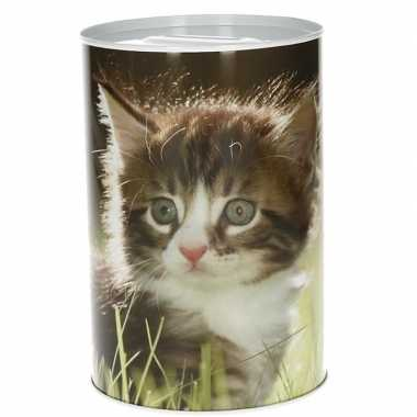 Dieren spaarpot kittens 15 cm type 2 bestellen