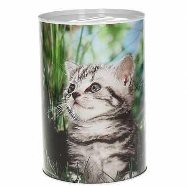 Dieren spaarpot kittens 15 cm type 3 bestellen