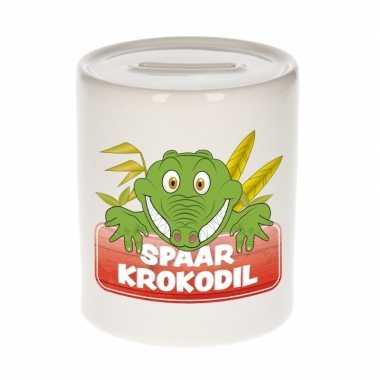 Dieren spaarpot krokodil 9 cm bestellen
