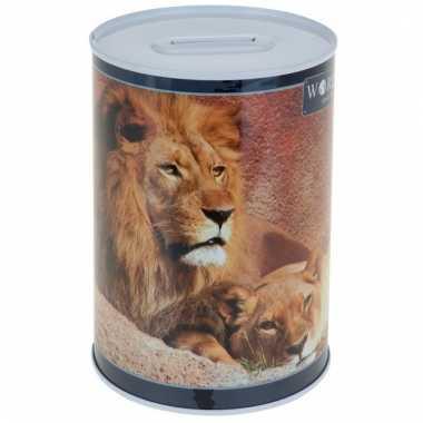 Dieren spaarpot leeuw 15 cm bestellen