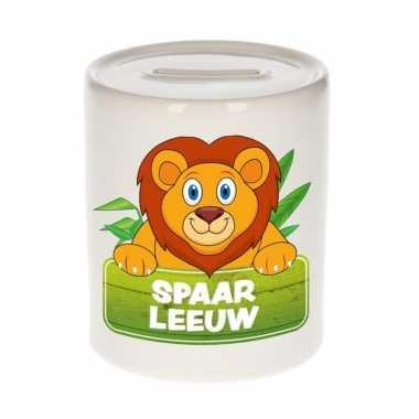 Dieren spaarpot leeuw 9 cm bestellen