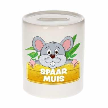 Dieren spaarpot muis 9 cm bestellen