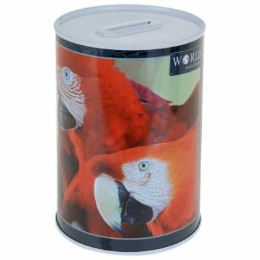 Dieren spaarpot papegaai 15 cm bestellen