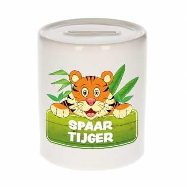 Dieren spaarpot tijger 9 cm bestellen
