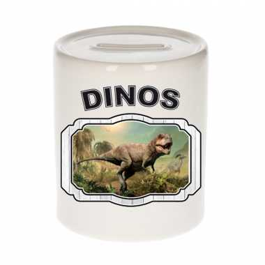 Dieren t rex dinosaurus spaarpot dinosaurs dinosaurussen spaarpotten kinderen 9 cm