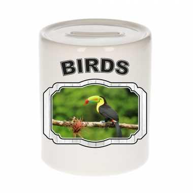 Dieren toekan spaarpot birds toekans spaarpotten kinderen 9 cm