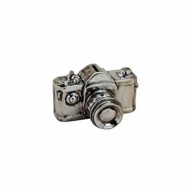 Foto camera spaarpot zilver 16 cm bestellen