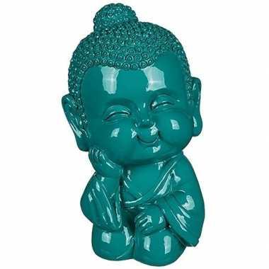 Geld spaarpot boeddha groen 13 cm bestellen