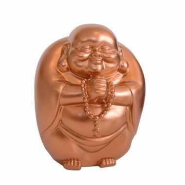 Geld spaarpot boeddha koper 23 x 18 cm bestellen