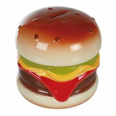 Geld spaarpot hamburger 14 cm bestellen