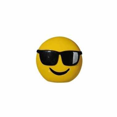 Gele spaarpot cole emoji 13 cm bestellen