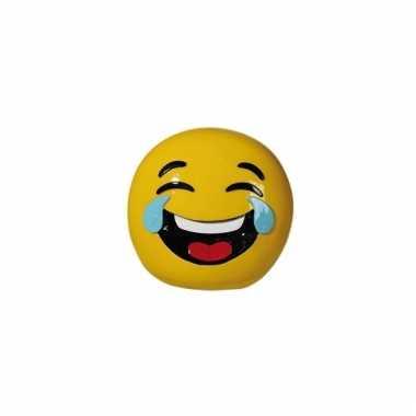 Gele spaarpot emoji lol 13 cm bestellen