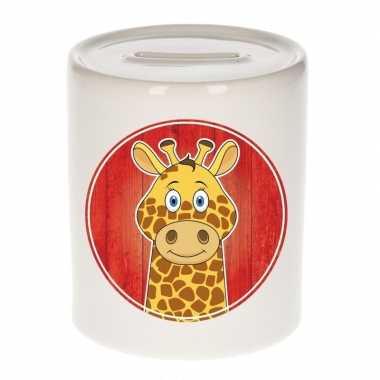 Giraf spaarpot van keramiek 9 cm bestellen