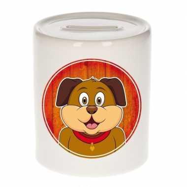 Hond spaarpot van keramiek 9 cm bestellen