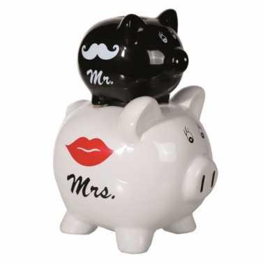 Huwelijk spaarpot Mr en Mrs bestellen