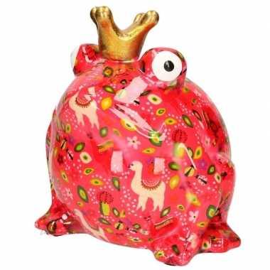 Kado mega spaarpot kikker roze 28 cm bestellen