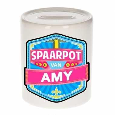 Kinder spaarpot keramiek van amy bestellen