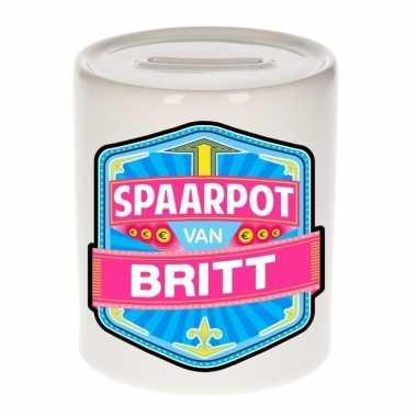 Kinder spaarpot keramiek van britt bestellen