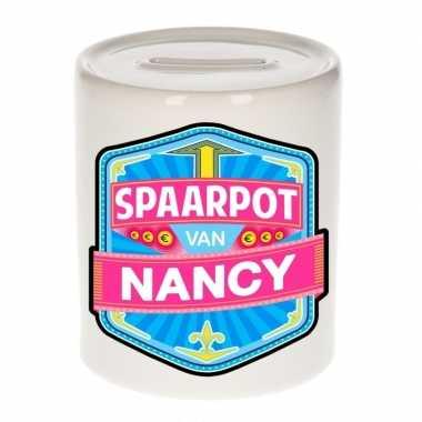 Kinder spaarpot keramiek van nancy bestellen