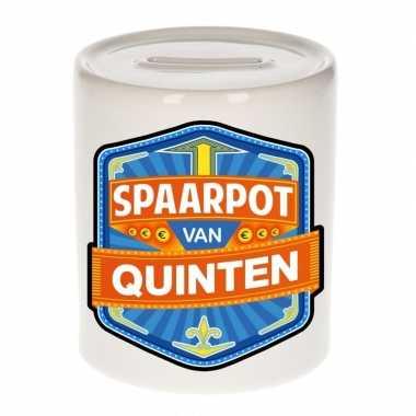 Kinder spaarpot keramiek van quinten bestellen