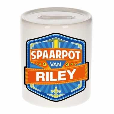Kinder spaarpot keramiek van riley bestellen