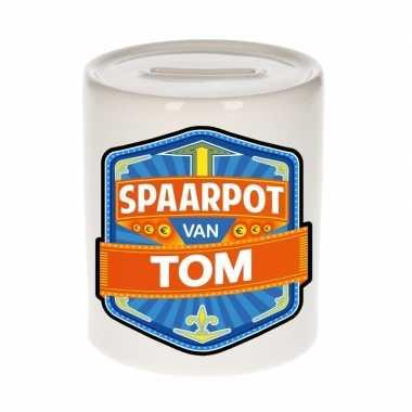 Kinder spaarpot keramiek van tom bestellen