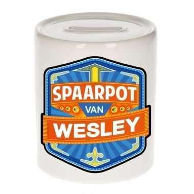 Kinder spaarpot keramiek van wesley