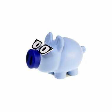 Kinder spaarpot varkentje blauw bestellen