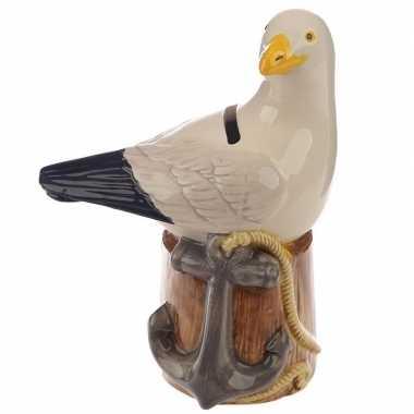 Kinderspaarpot vogel beeldje zeemeeuw 14 cm bestellen