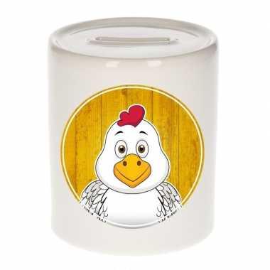 Kippen spaarpot van keramiek 9 cm bestellen
