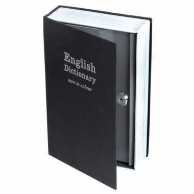 Kluis in de vorm van een engels woordenboek 890 gram bestellen