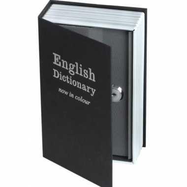 Kluis in de vorm van een Engels woordenboek bestellen