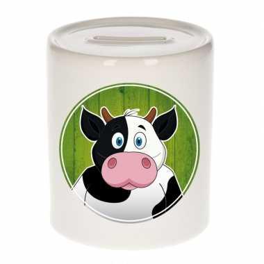 Koeien spaarpot van keramiek 9 cm bestellen