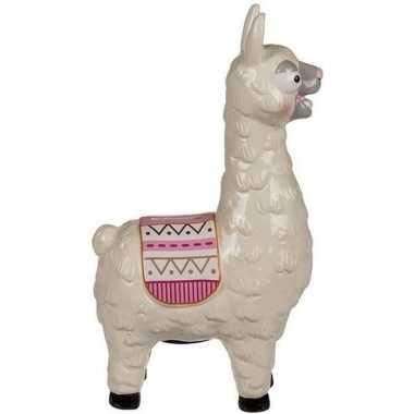 Lama spaarpot keramiek 28 cm wit bestellen