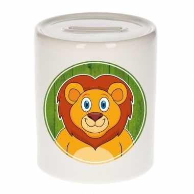 Leeuwen spaarpot van keramiek 9 cm bestellen