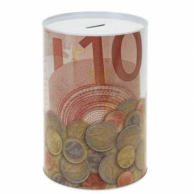 Metalen spaarpot 10 euro bestellen