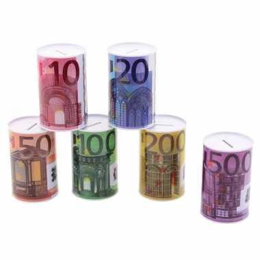 Metalen spaarpot 20 euro biljet 8 x 15 cm bestellen