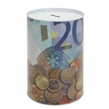 Metalen spaarpot 20 euro bestellen