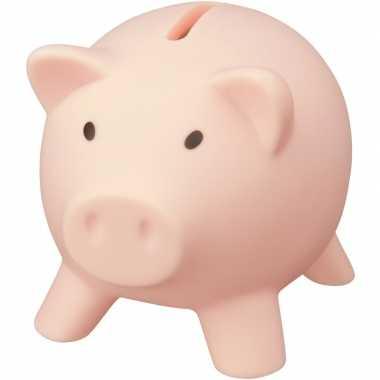 Mini spaarvarken/spaarpot lichtroze 9 cm bestellen