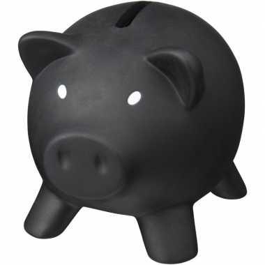 Mini spaarvarken/spaarpot zwart 9 cm bestellen