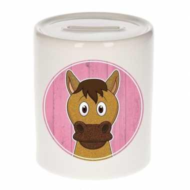 Paarden spaarpot van keramiek 9 cm bestellen