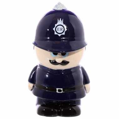 Politie agent spaarpot van keramiek bestellen