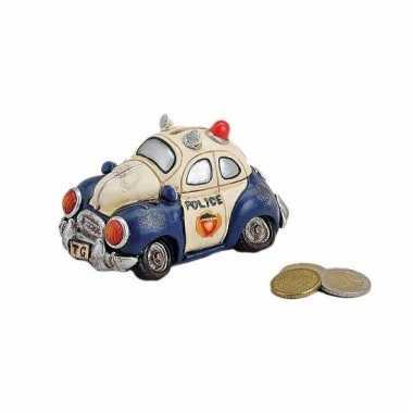 Politiewagen spaarpot 12 cm bestellen