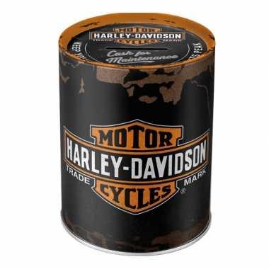 Ronde spaarpot Harley Davidson 13 cm bestellen